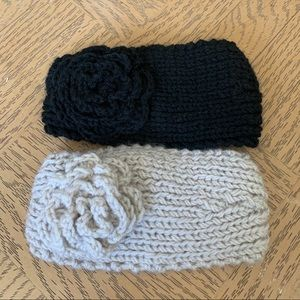 Two Handmade Knit Headbands